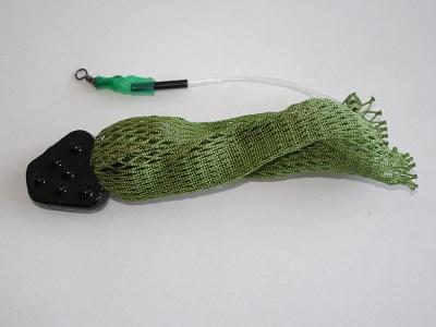 Кормушка для зимней рыбалки из сетки