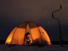 Отопление палатки для зимней рыбалки